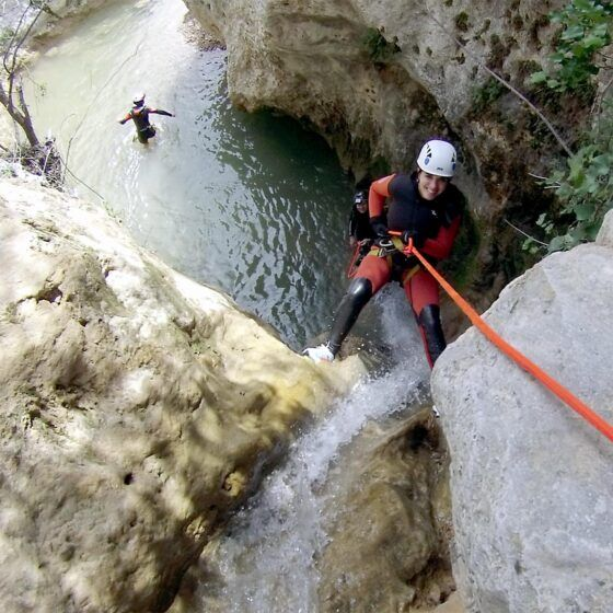 Canyoning in Arroyo Majales