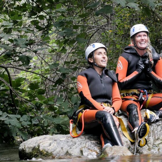 Canyoning in Zarzalones