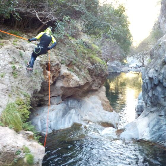 Canyoning in rio Alaminos